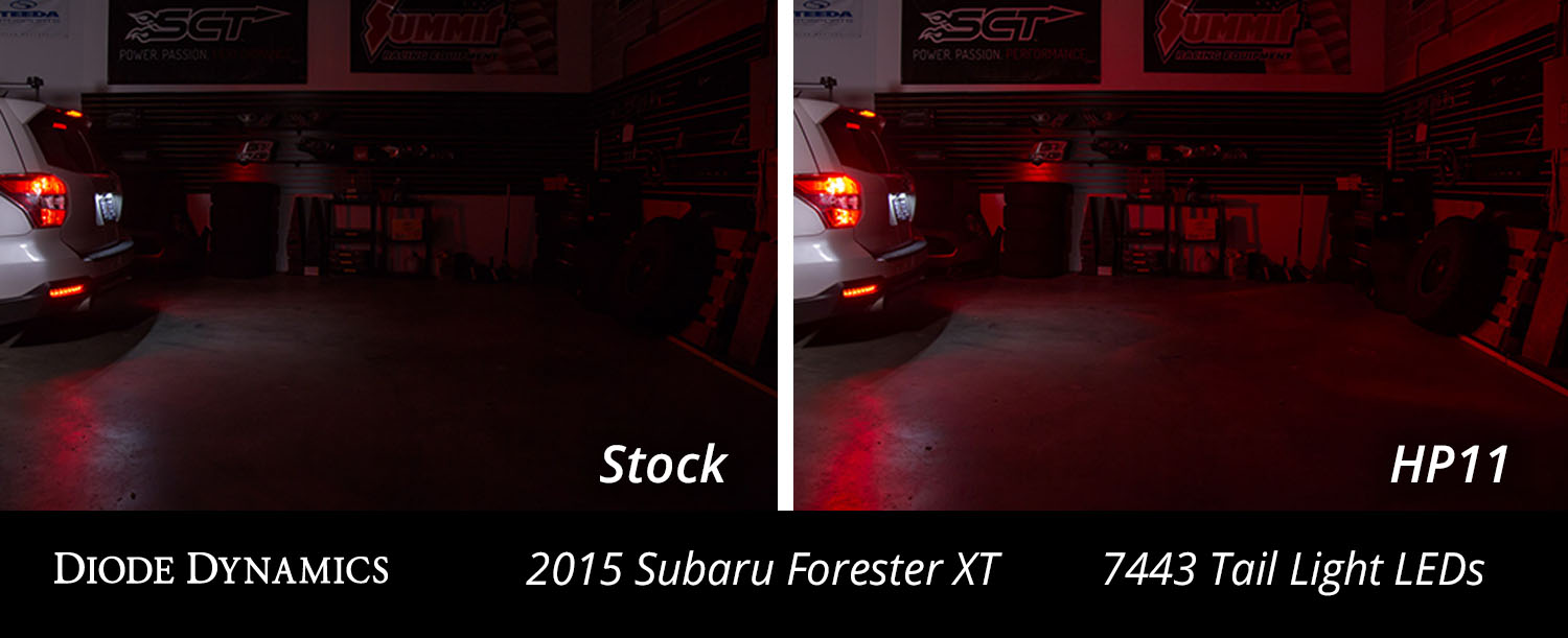 Subaru Forester with LED tail lights