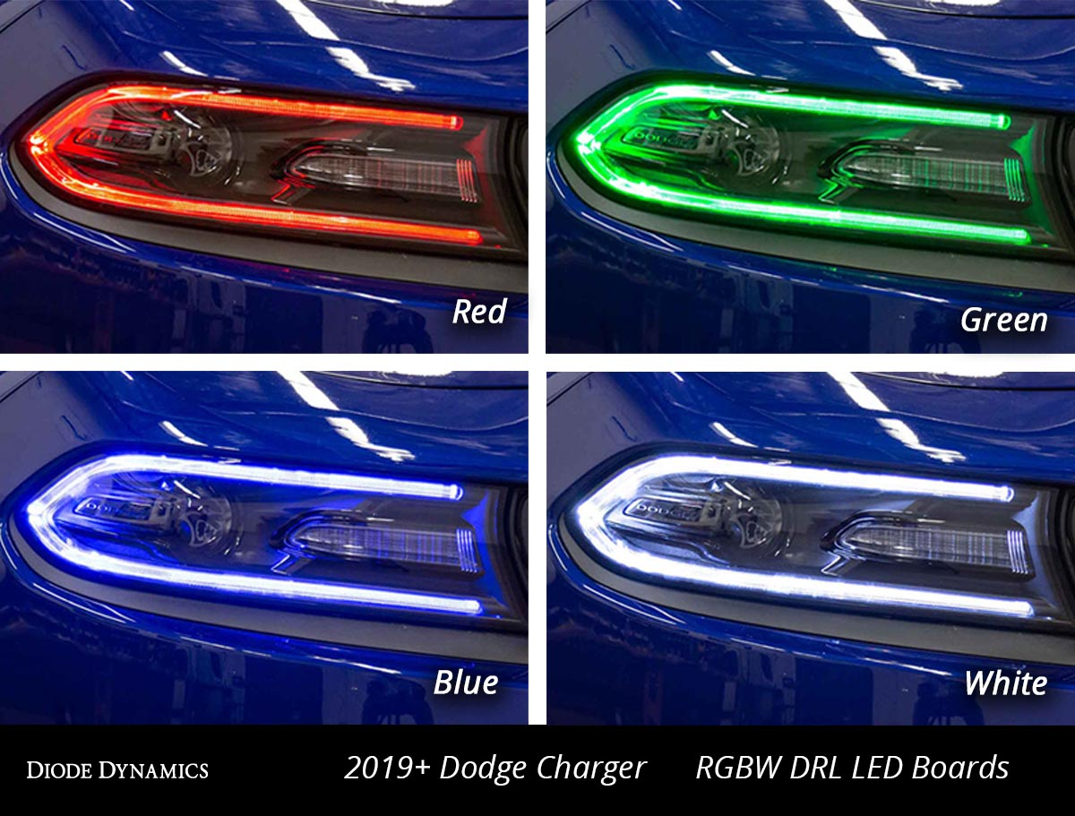 Color Changing Charger Headlights Multicolor Led Boards For 2019 Dodge Charger
