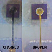 Burned vs Broken Wire Bonds