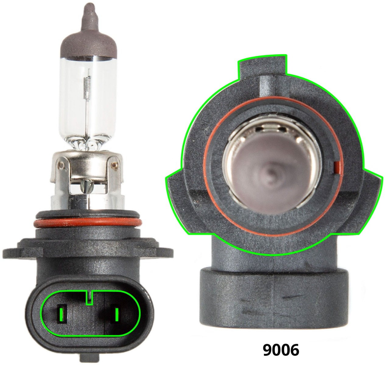 9006 Headlight Fog Light LED Bulb Replacements